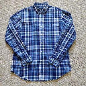 M's Ralph Lauren plaid button down shirt sz M